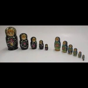 Bundle of two Beautiful Russian nested dolls